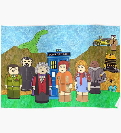 3rd Doctor and his companions Poster