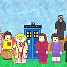 5th Doctor and his companions by HappyDoctors