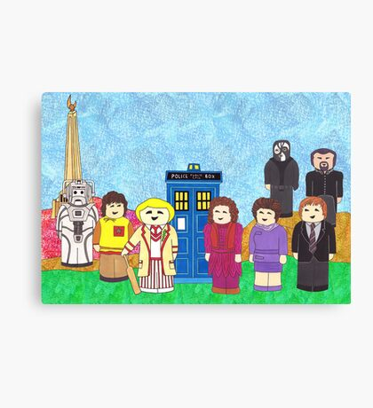 5th Doctor and his companions Canvas Print