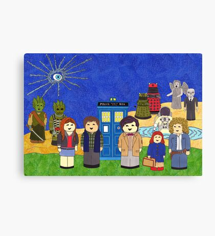 11th Doctor and his companions Canvas Print