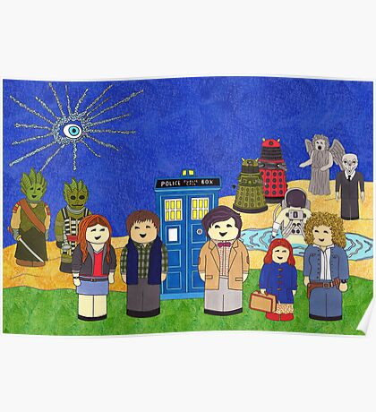 11th Doctor and his companions Poster