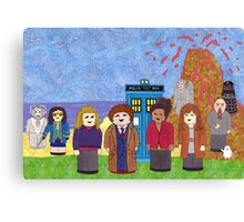 10th Doctor and his companions Canvas Print