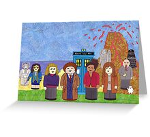 10th Doctor and his companions Greeting Card