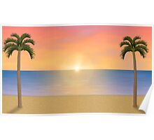 Sunset / Sunrise Beach Scene Poster