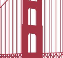 San Francisco skyline poster Sticker