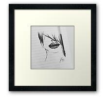 Dangerous - Black Bites Framed Print