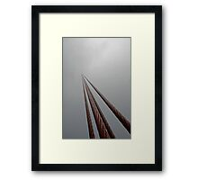 Disappearing into the mist Framed Print