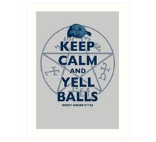 Keep Calm..... Balls! Art Print