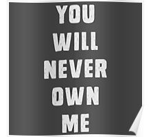 You will never own me Poster