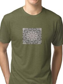 Sheet Music Abstract Mandala Kaleidoscope Tri-blend T-Shirt