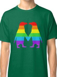 Rainbow penguins in love. Classic T-Shirt