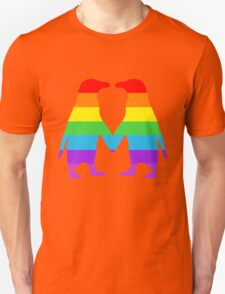 Rainbow penguins in love. T-Shirt