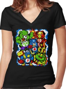 The Care Initiative  Women's Fitted V-Neck T-Shirt