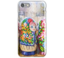 Traditional Russian Matryoshka Nesting Puzzle Dolls iPhone Case/Skin