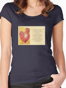 "Signposts Saying ""Happiness"" Greeting Card Women's Fitted Scoop T-Shirt"