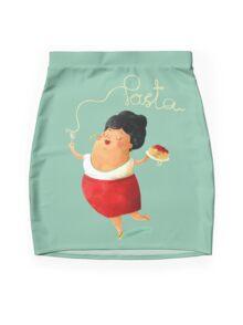 Spaghetti Pasta Lady Mini Skirt