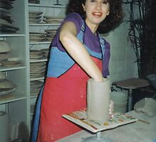 Me In The Ceramics Studio by Lorelle Gromus