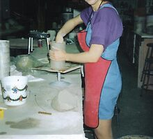 Me In The Ceramic Studio II by Lorelle Gromus