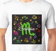 Scorpio Floating Zodiac Name Unisex T-Shirt