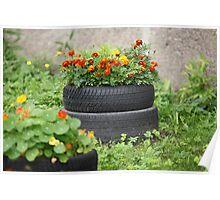 floral flowerbed Poster