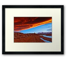 Mono Lake on fire Framed Print