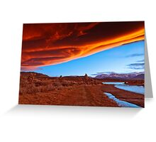 Mono Lake on fire Greeting Card