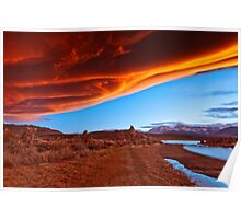 Mono Lake on fire Poster