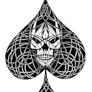 Ace Of Spades Skull by one-in-the-eye
