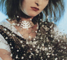Siouxsie Sioux with Bouquet Sticker
