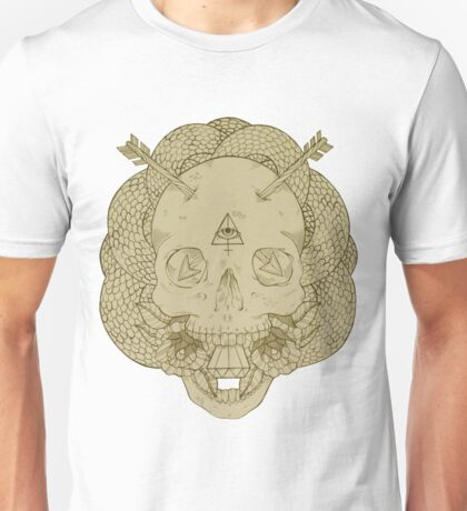 Skulls and Arrows Solid Unisex T-Shirt