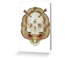 Skulls and Arrows Greeting Card