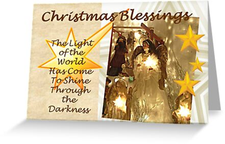 Light of the World Christmas Card - simpler version by Jane Neill-Hancock