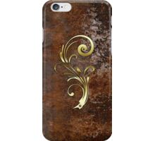 Gold detail on a rusty background iPhone Case/Skin