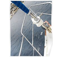 Bow of an Amel sailboat Poster