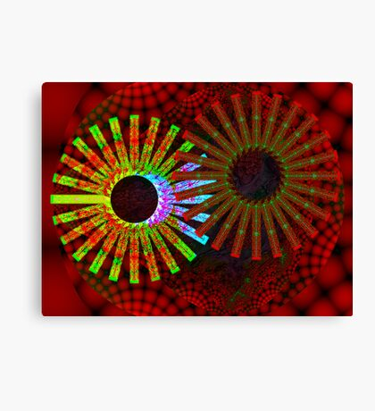two sun gears Canvas Print