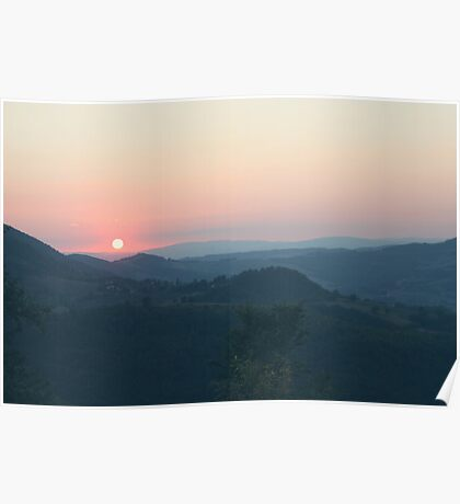 Sunset in Umbria Poster