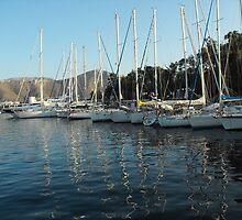 Leros Greek Island Sailboat Harbor by SlavicaB