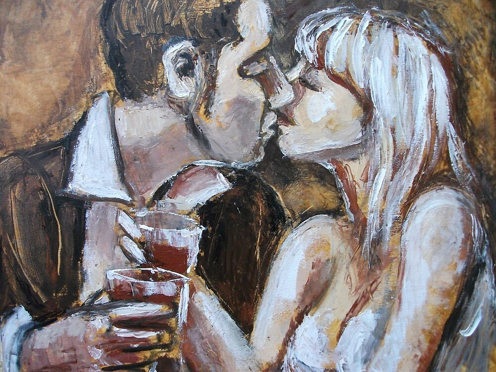 Lovers - Engagement Kiss  by CarmenT