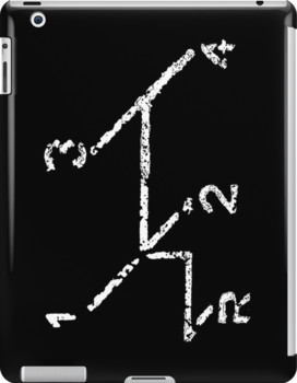 VW iPad case - VW Gear Shift - White on Black by melodyart