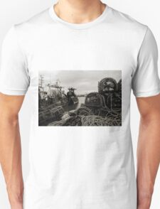 Howth Ireland Fishing boats and lobster pots in Howth harbour. T-Shirt