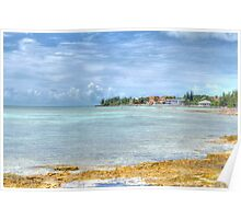 Ocean view from Eastern Road at Yamacraw in Nassau, The Bahamas Poster