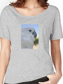Side Portrait Of A Blue-Eyed Cockatoo Women's Relaxed Fit T-Shirt