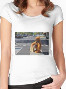 A BEARS CROSSING Women's Fitted Scoop T-Shirt