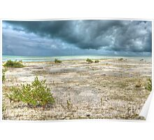 Storm over St Andrews Beach at Yamacraw in Nassau, The Bahamas Poster