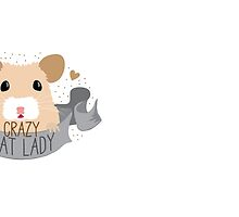 Crazy Rat Lady banner with white/tan rat by jazzydevil