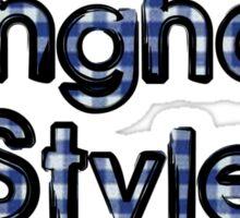 Gingham Style Sticker