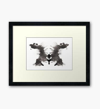 Rorschach test 03 Framed Print