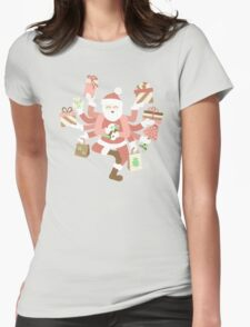 Dancing Mint Shiva Claus Womens Fitted T-Shirt