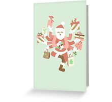 Dancing Mint Shiva Claus Greeting Card