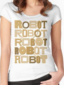 ROBOT ROBOT ROBOT ROBOT ROBOT Women's Fitted Scoop T-Shirt